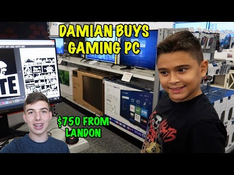DAMIAN BUYS a GAMING PC LANDON GIVES HIM 750 D&D SQUAD