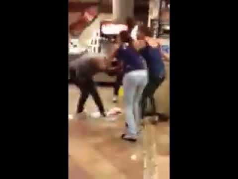 PREGNANT CHICK FIGHT IN MCDONALD S IN YONKERS NY