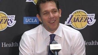 Luke Walton Postgame Interview  / LA Lakers vs Mavericks / Feb 23