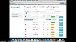 Mac OS X Safari   How to setup proxy list auto config