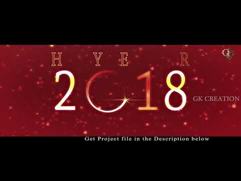 Xxx Mp4 New Year 2018 Full HD After Effect Templete With Particles 4K Res 3gp Sex