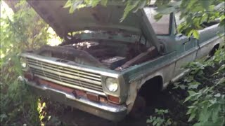 68 F100 Revival (20 Years Forgotten in the Woods) PART 1- Roadkill (Thunderhead289 Style)