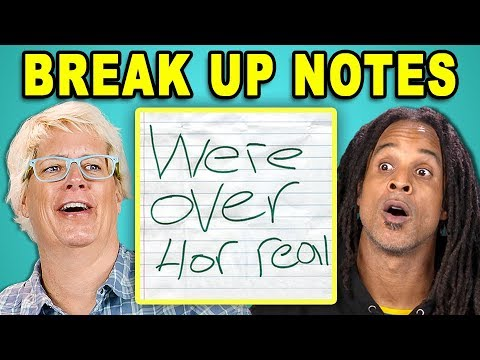 PARENTS READ 10 BREAK UP NOTES REACT
