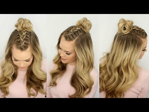 Mohawk Braid Top Knot Half Up Hairstyle Missy Sue