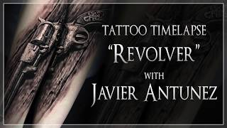 """Tattoo Time Lapse """"Revolver"""" with Javier Antunez"""
