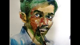 Water Colour Portrait:Learn Face Sketching & Coloring(Easy Steps)