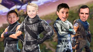 FORTNITE FAMILY SQUADS with EvanTube and Lincoln!!