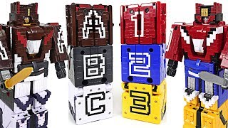 Power Rangers Zyuohger Zyuoh alphabet transform & combine Titan King appeared! - DuDuPopTOY