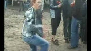 Techno crazy dancing