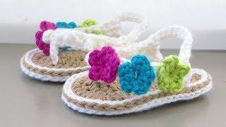 Crochet Baby Sandals Tutorial
