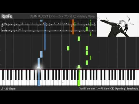 Yuri!!! on Ice Opening - History Maker (Synthesia)