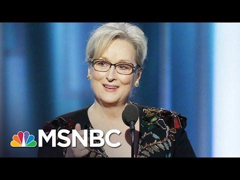 Donald Trump Goes After Meryl Streep After Golden Globes Speech MSNBC