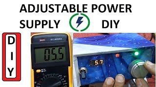 Make Adjustable power supply Easy Steps DIY 1.2V to 30 V Battery Charger by innovative ideas