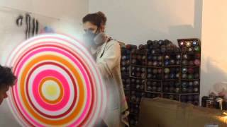PURE EVIL circle painting