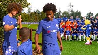 David Luiz Reveals Willian's Secret As Bridge Kids Member Meets The Team