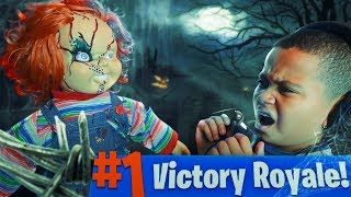 10 YEAR OLD KID GETS SCARED BY CHUCKY DOLL WHILE PLAYING FORTNITE PRANK!!! (GONE WRONG!)