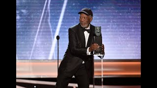 SAG Awards: Morgan Freeman calls out someone for chatting during his Lifetime Achievement speech