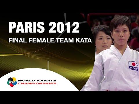 1 2 Karate Japan vs Italy. Final Female Team Kata. WKF World Karate Championships 2012
