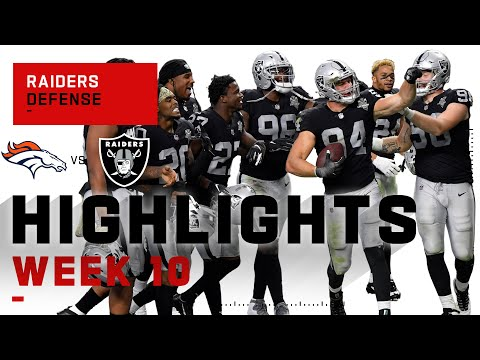 Raiders Defense Bucks the Broncos w 4 INTs & 2 Sacks NFL 2020 Highlights
