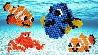 Disney Pixar BUSCANDO A DORY Aquabeads 🐠 Haciendo Manualidades con Amy Jo en DCTC