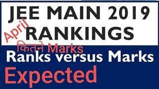 JEE MAINS April 2019 Marks versus Ranks    watch full video