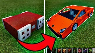 How to Make a WORKING Car in Minecraft Pocket Edition