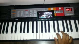 Bahubali pacha bottesi song on keyboard