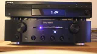 Sony SCD-XE800 Super Audio CD Player + Marantz PM8003