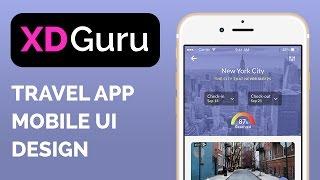 Adobe XD Tutorial - Design a Travel App (UI/UX mobile design)