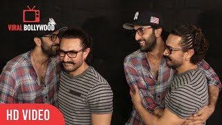 Ranbir Kapoor At Secret Superstar Special Screening   Ranbir And Aamir Together