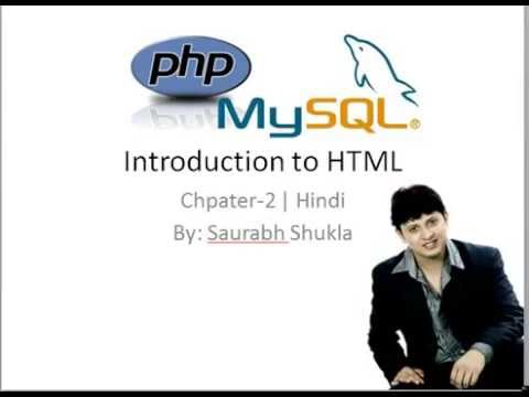 Chapter 2 Introduction to HTML Hindi