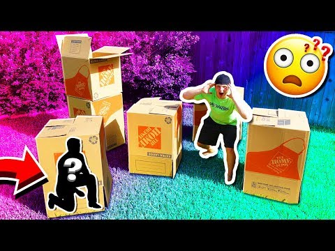 MYSTERY BOX FORT HIDE & SEEK CHALLENGE