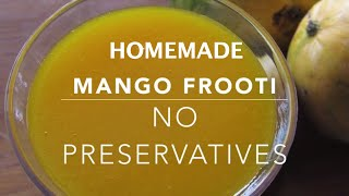 Mango Frooti Recipe - How To Make Mango Frooti At Home - Mango Fruity - Indian Mango Juice Recipes