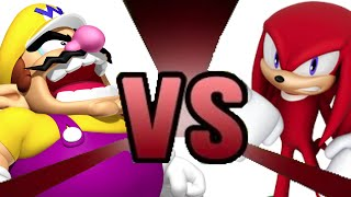 WARIO VS KNUCKLES Cartoon Fight Club Episode 1