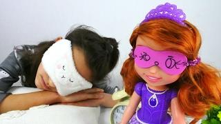 Prenses Sofia oyunu. Uyku maskesi yapımı. Eğlenceli #kızoyunları