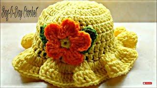 Download CROCHET How To #Crochet Baby Crochet Toddler Springtime Hat #TUTORIAL #220 LEARN CROCHET 3Gp Mp4