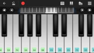 Senjitaley song | remo piano cover | perfect piano apk