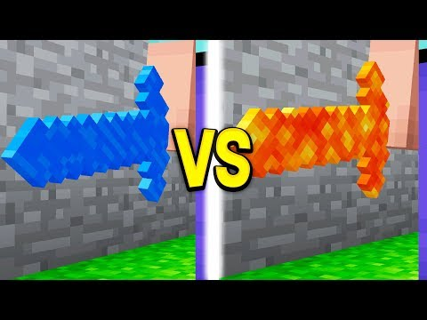 WATER SWORD vs LAVA SWORD IN MINECRAFT