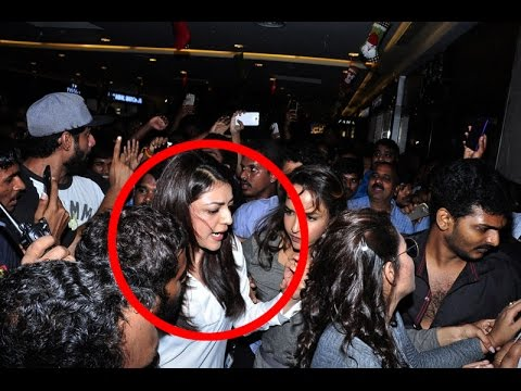 Kajal Agarwal Harassed By Fans with Vulgar Behaviour