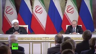 Putin & Rouhani hold news conference