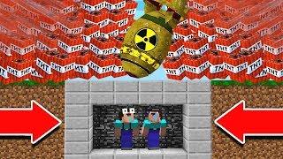 EXTREME TNT NUKE VS. MINECRAFT BUNKER!
