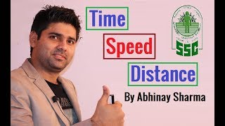 Time Speed And Distance | Most Useful Tricks For SSC CGL Mains By Abhinay Sharma ( Abhinay Maths)