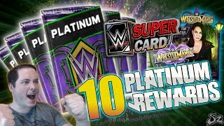10 WRESTLEMANIA 34 TEAM BATTLEGROUND PLATINUM REWARDS!! | WWE SuperCard S4