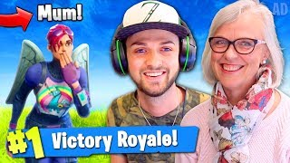 MUM WINS 1st Fortnite: Battle Royale GAME!