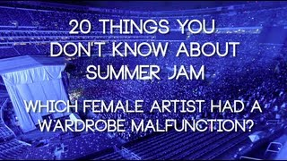 What female artist had a a wardrobe malfunction at Summer Jam?