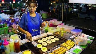 Street Food at a Food Market in Thailand. Thai Street Food Tour.
