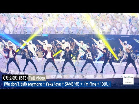 (BTS) 방탄소년단 (Full Ver) (We don't talk anymore & fake love & save me & I'm fine & IDOL)@181106