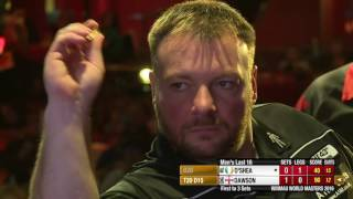 Darts World Masters 2016 Last 16 Dawson vs O'Shea