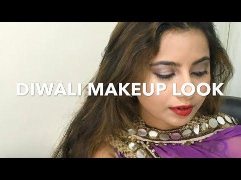 Diwali Makeup Look || Diwali 2017 || Deeksha Beauty || Eye Makeup Video
