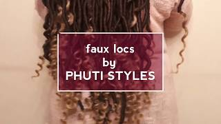 How to :Faux locs with Brazilian ft Tyttö Kink ombre hair | PHUTI STYLES | S.A YouTuber